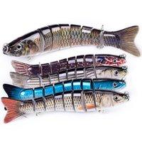 señuelos de pesca hundiendo al por mayor-Fishling Señuelos para Bass Multi articulados Swimbaits de hundimiento lento duro del señuelo Equipos de pesca Kits realista 5.3