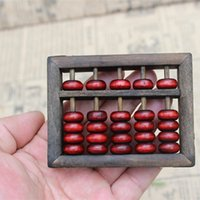 juguetes de matemáticas al por mayor-Madera ábaco Aritmética Niños Matemáticas Herramientas de cálculo chino Abacus Toys Abacus educativo Tamaño pequeño 9x6.8 cm