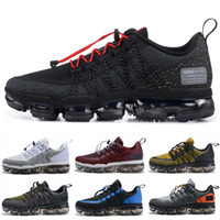 Wholesale discount running shoes for sale - 2019 Run Utility Men Running Shoes Best Quality Black Anthracite White Reflect Silver Discount Shoes Sport Sneakers Size