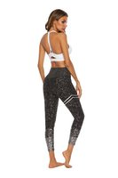 polainas de oro calientes al por mayor-2019 nuevo estilo caliente estampado en oro pantalones de yoga cintura alta estiramiento de fitness caderas de levantamiento delgado leggings