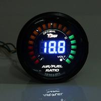 Wholesale digital race car for sale - Group buy Universal MM Auto Car Air Fuel Ratio Gauge Motor AFR Racing Meter Monitor Blue LED Digital Display V Smoke Lens Styling
