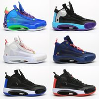 Wholesale arrival rivet shoes for sale - Group buy 2020 New arrival Jumpman Blue O Snow Leopard Men basketball shoes XXXIV Blue Void Bred Eclipse trainers Athletic sports sneaker