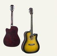 21 inç gitar toptan satış-2019 yeni 41 inç akustik gitar Basswood sunset renk yeni başlayanlar için acemi giriş gitar fabrika doğrudan uygun toptan ücretsiz kargo