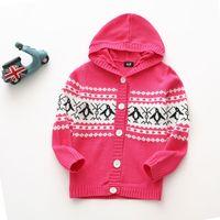 chaquetas infantiles de punto al por mayor-2019 chlidren suéter abrigo suave bebé niña cardigan con capucha de punto chaqueta de diseño moda niños ropa cómoda primavera