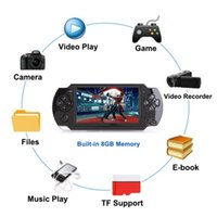 Wholesale mp3 player crystal resale online - 4 inch G Handheld Game Console Easy Operation screen MP3 MP4 MP5 player support for psp game camera video e book