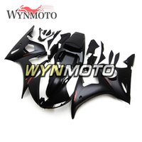 schwarze matte verkleidung r6 großhandel-Mattschwarz-rote Motorrad-Verkleidungen für Yamaha YZF 600 R6 2003 2004 ABS Plastikeinspritzungs-Motorradinstallationssatzverkleidungsabdeckungen