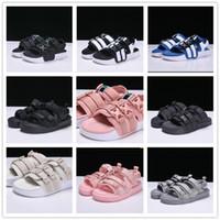 ingrosso ampie scarpe da tennis-2019 Rome Style Sandals Uomo Donna Designer Pantofole sportive Rosa Nero Ragazzi ragazze Peep Toe Sandali Wide Flat Slippery infradito Scarpe
