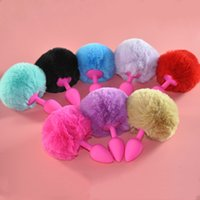 Wholesale anal bunny tail sex toy resale online - Sweet Magic Small Size Siliconel Rabbit Tail Anal Plug Bunny Tail Butt Plug No Vibration Anal Sex Toys for Woman Men Gay Sex Products