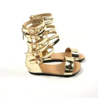 bebés sandalias hechas a mano al por mayor-Descuento moda niñas romanas sandalias sandalias hechas a mano bebé princesa zapatos niños zapatos Slip 2 - 5 T niños sandalias envío gratis