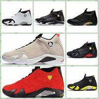 ingrosso aria retro 14-Nike Air jordan 14 Retro AJ AJ14 Classico 14s Uomini scarpe outdoor Desert Sand DMP Ultimo colpo Indiglo Thunder Red Suede Oxidized Candy Cane Designer Sport Sneakers