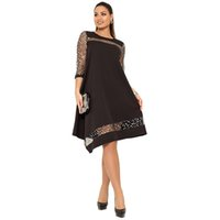 quimono de malha preta venda por atacado-Vestido de lantejoulas tamanho grande mulheres vestido brilhante preto de lantejoulas de verão vestido de verão tamanho grande vestidos de malha de roupas femininas