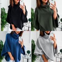 yeni moda stil kadın süveter giyim toptan satış-Popüler Lüks Yüksek Yaka Pelerin Artı Boyutu Gevşek Polar Kazak Kadın Moda Narin Ev Giyim Tasarımcısı Yeni Stil 23yda Ww