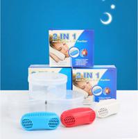 solutions de jouets achat en gros de-2019 Anti Apnea Kit anti-ronflement Embouchure 2in1 Anti-ronflement Purificateur d'air Snoring Stopper Stop Snoring Solution avec Retail Box Funny Toy B2143
