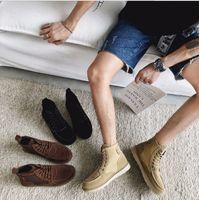 neue stil schuhe männer stiefel großhandel-Neue Herrenstiefel, Freizeit-Martinstiefel, koreanische Version von High-Help-Herrenschuhen, modische Kurzstiefel und nackte Stiefel
