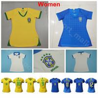 Wholesale brazil world cup jerseys resale online - 2019 World Cup Women Brazil Jersey Soccer JESUS COUTINHO MARCELO SILVA CASEMIRO Woman Football Shirt Kits Uniform