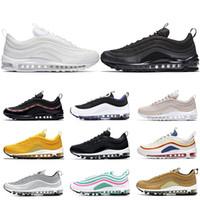 lowest price be57a 31a75 with box Nike Air Max 97 VF SW Les nouveaux Arrivants Hommes femmes  classique en plein air Run Chaussures Noir Blanc Sport Choc de Jogging, ...