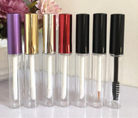 Wholesale lip gloss tube free shipping resale online - ml Transparent Plastic lip gloss Tube Bottles Eye Liner Mascara Cosmetic Empty Packaging Containers SN3770