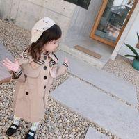 vestido de jeans para niña de niños al por mayor-2019 abrigos de ropa de diseñador para niños calientes bebés niñas vestidas chaqueta de abrigo poncho veste en jean bébé fille niñas pequeñas