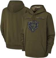Wholesale hoodie super for sale - Group buy 2018 men Chicago Sweatshirt Bears Salute to Service Sideline Therma Performance Pullover Hoodie Olive