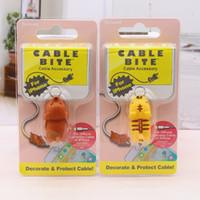 ingrosso giocattoli di mele-Hot Cable Bite Styles Animal Bite Cable Accessorio Toy Cable Bites Cane Pig Elephant Axolotl per iPhone XS Max XR Smartphone Cavo di ricarica