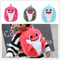 Wholesale 5 Colors Baby Shark Backpacks Cartoon D Baby Shark Plush Backpack Kids Plush School Bag Shark Plush Backpacks