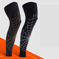 calças leggings venda por atacado-Basquete leggings longo protetora bezerro esportes joelheiras correndo respirável engrenagem de proteção ciclismo mangas de perna LJJZ87