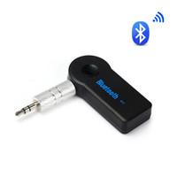 мини-аудиоразъемы оптовых-Newv Bluetooth приемник Handsfree Carkit 3.5 mm Джек автомобилей AUX аудио мини беспроводной адаптер TF карта играть Mp3 музыкальный приемник