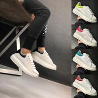 mädchen loafer wohnungen großhandel-2019 Mode Sneaker Wedges Wohnungen Plattform Kleid Loafers Leinwand Trainer Designer Luxus Weiß Schwarz Frauen Männer Mädchen Leder Freizeitschuhe