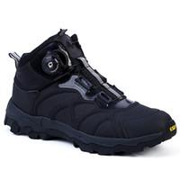 invierno trabajo botas hombres al por mayor-Botas tácticas de los hombres de cuero de invierno con cordones Combate Botines del ejército para hombre Zapatos de trabajo planos de seguridad Ooutdoor Zapatos para hombre