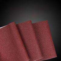 weiße papierrollen großhandel-3 Farben Rot / Weiß / Schwarz Leistungsstarke Handaufreißrollen Sand Papier Sand Tuch für die Holzbearbeitung Polieren und Schleifen
