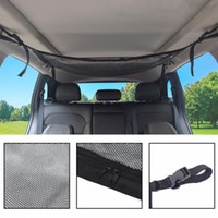 Wholesale car trunk storage net resale online - Car Ceiling Storage Net Pocket Universal Car Roof Interior Luggage Net Bag With Zipper Trunk Storage Interior Accessories