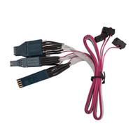 connecteurs eeprom achat en gros de-CKS Set de connecteurs CLIP EEPROM pour câble Tacho EEPROM NO.42 Câble DIP-8CON NO.43 Câble EEPROM SOIC-14CON Câble NO.44 SOIC-8CON Adaptateur