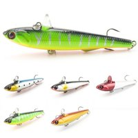 Wholesale minnow lure 9cm resale online - 5 Colors Large Lure VIB Baits Sinking Minnow Fishing Lure Hard Vibration Bait Fishing Tackle cm g