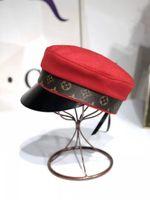 erkekler düz şapka şapkaları toptan satış-2019 Vintage Newsboy Cap Kadınlar Nakış Askeri yün fırıncı oğlan İngiliz Klasik Kadın Gatsby Düz Şapka kapakları