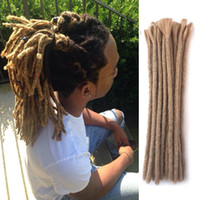 Wholesale hair styles for braids for sale - Hot Handmade Dreadlocks Black Reggae Hair Extensions inch Fashion Hip Hop Style Strands Pack Synthetic Braiding Hair For Men