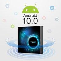 lecteur multimédia android achat en gros de-T95 Smart Android 10.0 TV Box 4 Go 32 Go 64 Go Allwinner H616 Quad Core H.265 Lecteur multimédia Set top box