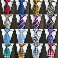 casamentos de casamento paisley venda por atacado-295 Estilos 8 cm Homens Gravatas De Seda Moda Mens Gravatas Gravatas Laço De Casamento Artesanais Gravatas de Negócios Inglaterra Paisley Listras Mantas Gravata Dots