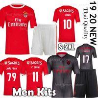 uv t shirts großhandel-Thai SL Benfica Fußball-Jersey-Männer-T-Shirt-Kits 19/20 JOÃO FÉLIX Startseite Fußball-Hemd JONAS PIZZI Erwachsener Kit Shirts Camiseta Maillot