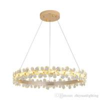 araña mariposa al por mayor-La luz colgante llevada mariposa de la iluminación de la lámpara de los anillos LED modernos para el dormitorio del comedor de la sala de estar