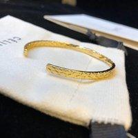 pulsera de latón dorado al por mayor-Nueva llegada de latón de calidad superior abrió punk pulsera de oro de lujo de calidad joyería para las mujeres y la madre regalo joyería PS6235A