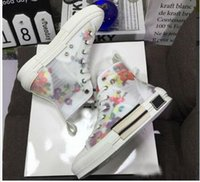 Wholesale red high top sneakers for sale - Group buy 19SS Flowers Technical Canvas B23 B24 High Top Sneakers in Oblique Mens Brand B23 Designer Shoes Women Fashion Sneakers