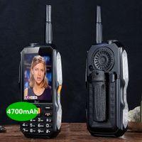tarjeta de video mp3 mp4 al por mayor-al aire libre a prueba de golpes mp3 / mp4 antena banco de potencia DBEIF D2017 voz mágica tarjeta SIM linterna FM TV analógica robusto teléfono celular móvil