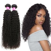 cabelo virgem real virgem venda por atacado-Solto Brasileira Kinky Curly Hair Weave 3 Bundles Peruano Virgem Extensão Do Cabelo Real Indiano Não Transformados Cabelo Humano Onda