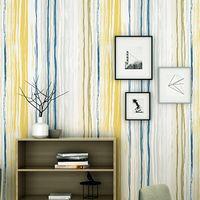обои в средиземноморском стиле оптовых-Nordic style wallpaper modern minimalist color vertical stripes bedroom living room personality Mediterranean TV background wall