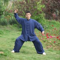 tai chi se adapta a las mujeres al por mayor-Alta calidad de Wushu Kung Fu ropa de algodón Tai chi Uniforme Kid Hombres Mujeres artes marciales de Chun del ala tradicional traje de ropa china Taiji