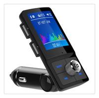 ingrosso kit di lettore mp3 usb-BC45 Wireless MP4 Player Auto Modulatore trasmettitore FM LCD Car Kit Caricatore USB SD MMC Modulatore FM auto a distanza