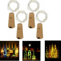 Wholesale green glass bottles for online - Multi M LED M LED Lamp Cork Shaped Bottle Stopper Light Glass Wine LED Copper Wire String Lights For Xmas Party Wedding Decor