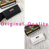 Wholesale womens wallets for sale - Luxury womens wallet famous brand designer clutch bag high quality leather bow long purses new