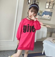 Wholesale period clothing for sale - Girls Sanitary Clothes New Fashion Autumn Clothes Long sleeves of Children s Westernized T shirt in Spring and Autumn Period