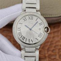платиновые часы высокого класса оптовых-Звездное горный хрусталь роскошные часы моды водонепроницаемый календарь синий воздушный шар вахты людей сапфира зеркало стальной ленты платины высокого класса часы